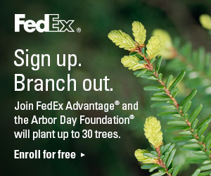 Join FedEx Advantage®. Up to 30 trees will be planted by the Arbor Day Foundation®.